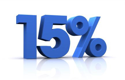 Зимние скидки 15%
